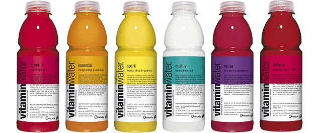 Vitamin Water is promoted for its health benefits, but drinks contain four teaspoons of sugar per 330ml