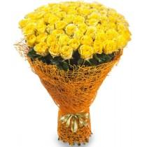 """Букет """"101 желтая роза"""""""