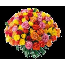 """Букет """"Фейерверк"""" из 101 розы"""